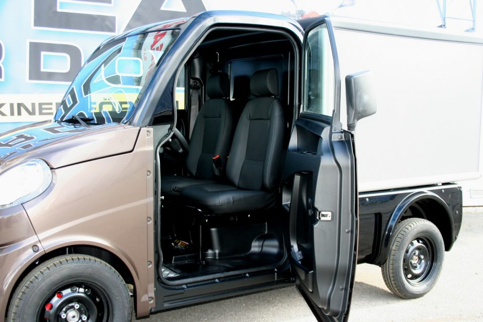 Microcar Mopedlastbil FLEX med aluminiumskåp