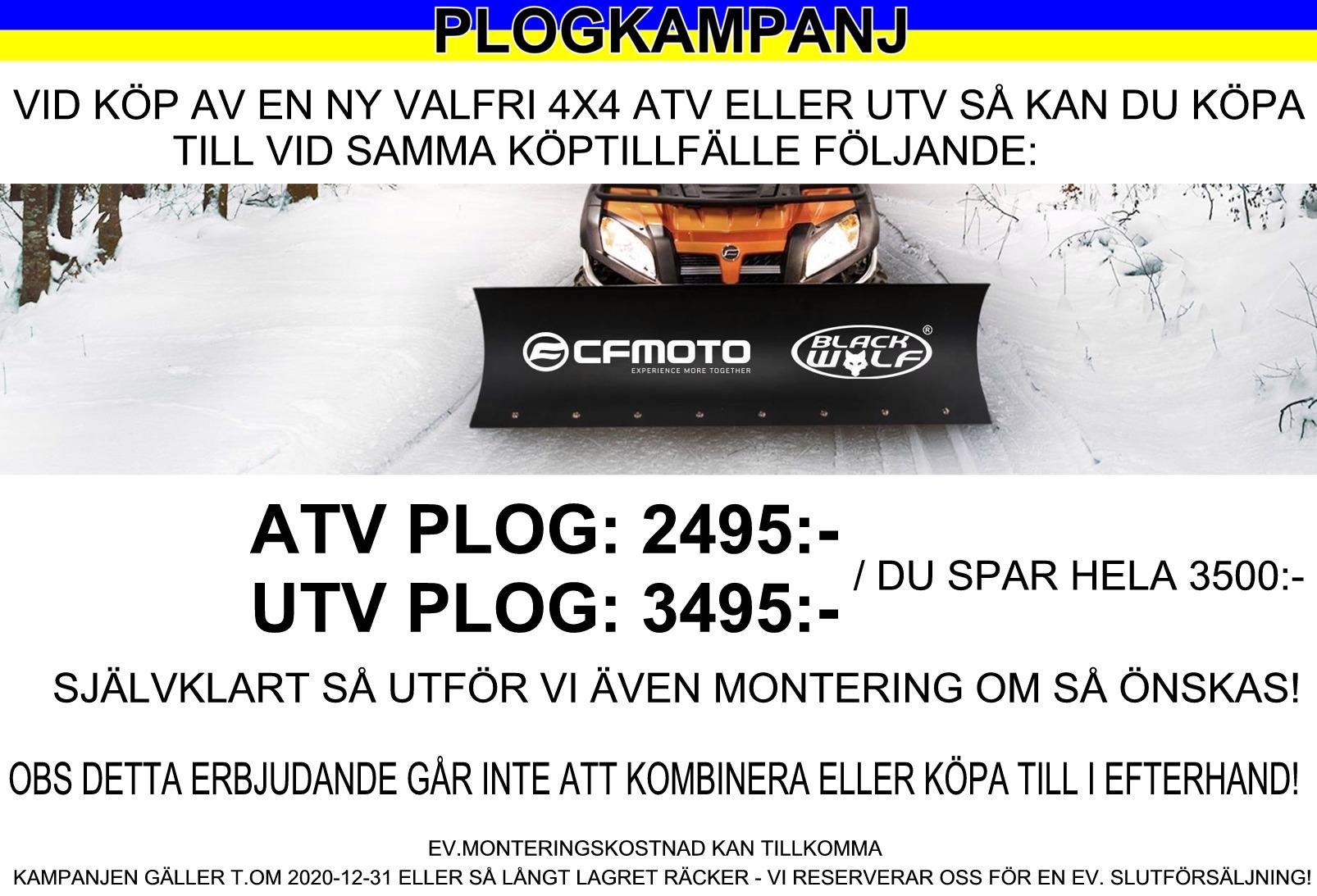 Plog Kampanj CFMOTO UTV 2020