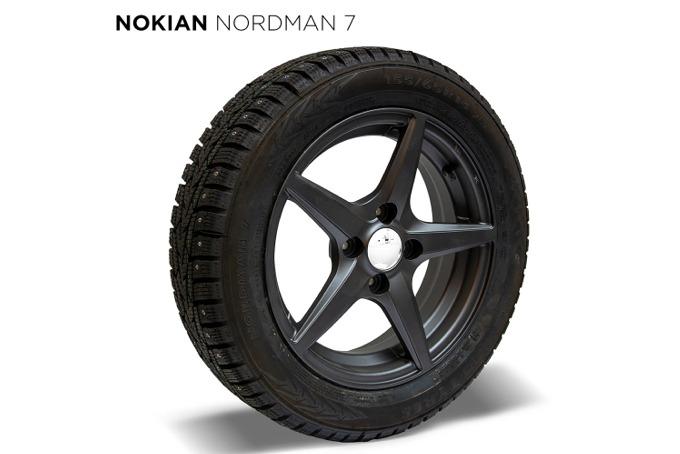 Vinterdäckspaket Nokian Mopedbil Svea Nordman Dubb