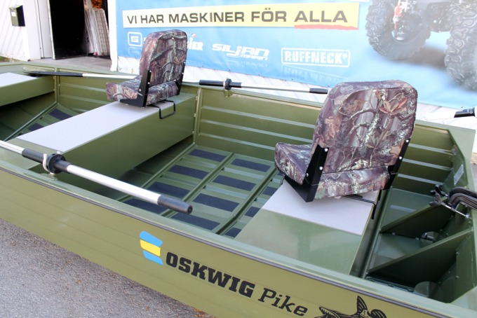 Oskwig Pike Aluminiumbåt Med Trollingmotor
