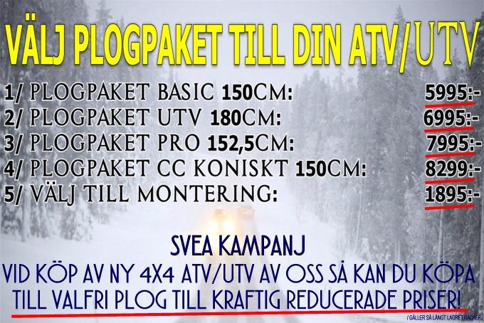 Valfritt Plogpaket Till ATV/UTV Till Kanonpris