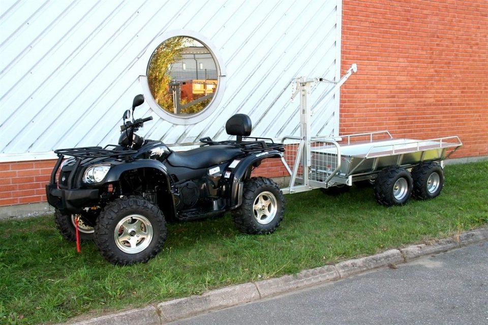 Kombi & Timmer Vagn Till ATV